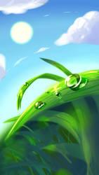 wet grass by Bluemarine159