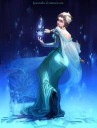 Frozen-Elsa by KoweRallen