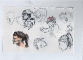 sketch people by JonnDeww
