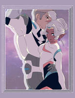 Voltron : Allura And Shirogane by kimiezz