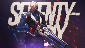 Overwatch - Soldier: 76 Wallpaper by MikoyaNx