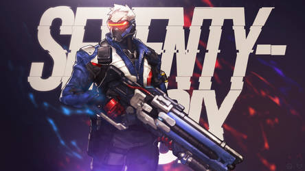 Overwatch - Soldier: 76 Wallpaper by MikoyaNx