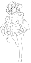 Reinforce Eins Yagami 8 lineart by CerberusYuri