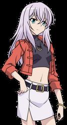 Misaki Tokura (V-Series) Casual Clothes Lineart by CerberusYuri