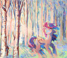 Birch Grove by Madina55Rus
