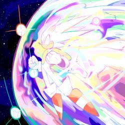:collab: Hyper Sonic by rontufox
