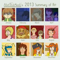 2013 Art Summary by NextTrickAnvils