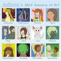 2014 Art Summary by NextTrickAnvils