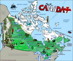 Map Of Canada by FreyFox