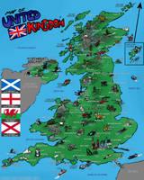 Map Of United Kingdom by FreyFox