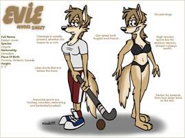 Evie Model Sheet by FreyFox