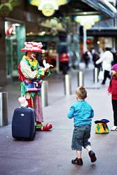 Pitt Street Clown 2 by mfunnell