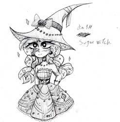 Day 1# Sugar witch. |beautiful magic. inktober.| by DarkLadyAzuriteh
