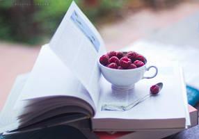 cup of raspberries by Cochalita
