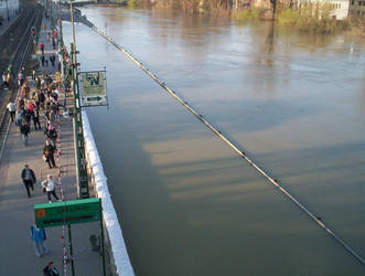 Flood of the Danube by DezWagner