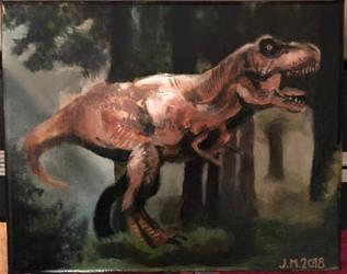 T. rex commission  by artworksbyjem