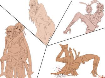 Talon and Riven by Yosukii