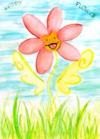little flower,happy flower by niouu