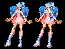 Mahonie first transformation+Charmix by Rina-Senpai