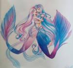 Berry twins mermaid by Rina-Senpai