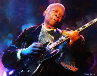 BB King - digital painting by paulnery