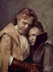 Luke and Leia by paulnery