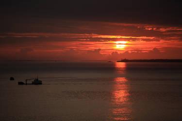 Breton sunset by Rollwurst