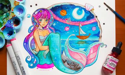 +Space Mermaid+ by larienne