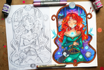 +Merida - Concept and Finished Art+ by larienne