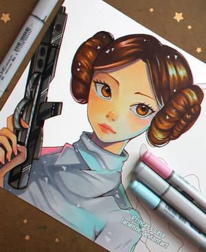 +Princess Leia - Wip+ by larienne