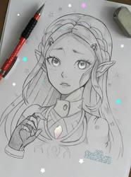 Zelda - Breath of Wild by larienne