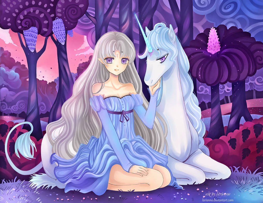 +Last Unicorn -Lilac Forest+ by larienne