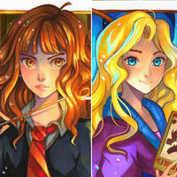 Hermione vs Luna by larienne
