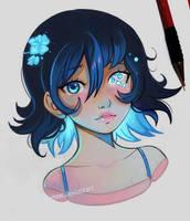 Broken Soul - Blue by larienne