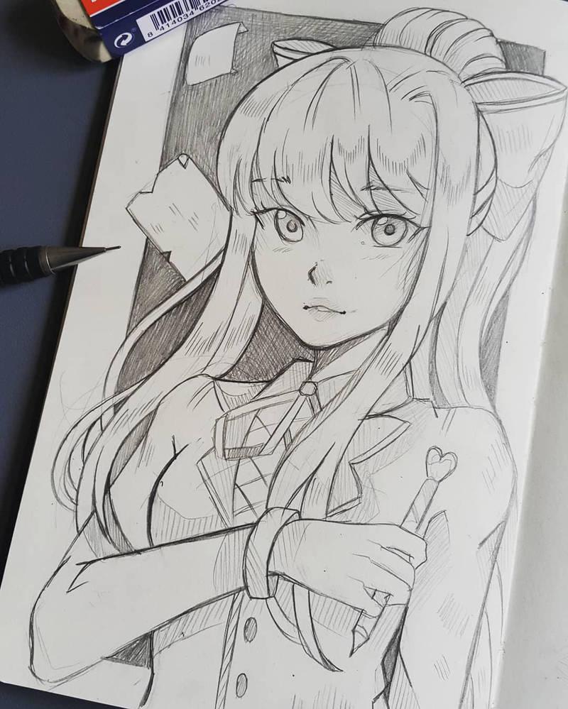 Just Monika by larienne