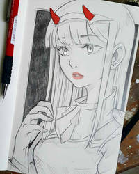Zero Two by larienne