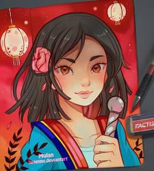 Mulan - Evening Lights by larienne