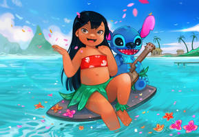 Lilo and Stitch by larienne