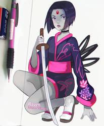 Ninja Raven by larienne