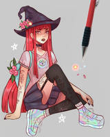 City Witch by larienne