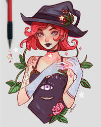 Winterberry Witch by larienne