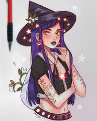 Moon Flower Witch by larienne