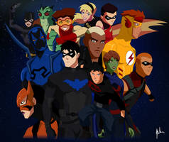 Young Justice Invasion Tribute by asemharun