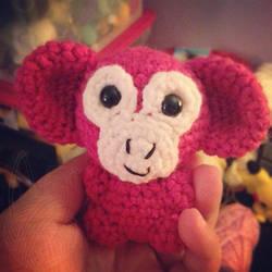 Pink Monkey by theyarnbunny