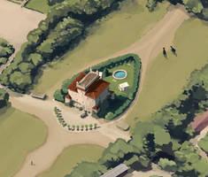 castel fusano map detail 01 by berov