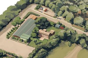 castel fusano map detail 02 by berov