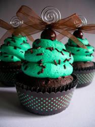 Choco-Mint Faux Cupcake - 01 by CreativeAbubot