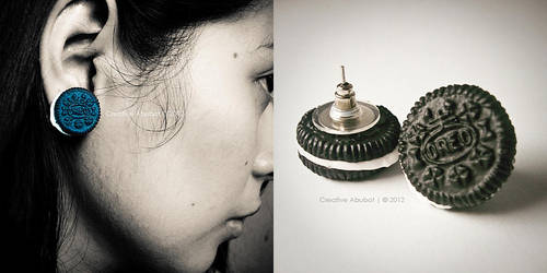 Mini Oreo Earrings by CreativeAbubot