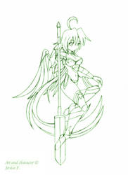 Sylph lineart by JessicaElwood