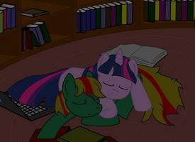 Verdant and Twilight sleeping by Tassadoul